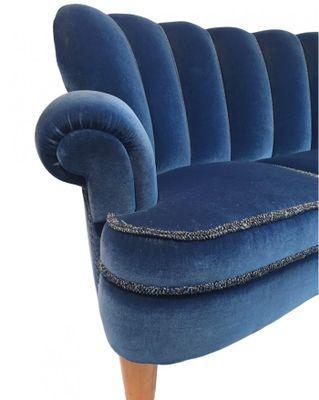 Swedish Blue Velvet Sofa 1950s For Sale At Pamono Blue Velvet Sofa Velvet Sofa