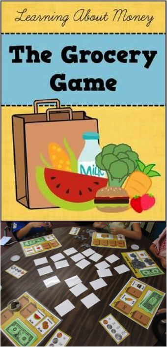 By far, my students' FAVORITE game to play! The Grocery Game - practice counting money