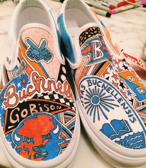 Last chance for the sale! Order by midnight tomorrow to get $10 off your custom college-themed sneakers! #gobison #bucknell #bucknellu #bucknell2021 #bucknellclassof2021 #2021 #classof2021 #bison #lewisburg