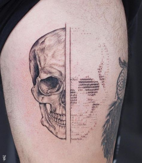 ascii art tattoos by tattoo artist andreas vrontis that you