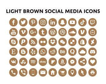 White Social Media Icons Minimalist Social Media Logos Simple Line Icons Instagram Youtube Facebook Tiktok Patreon Etc By Senti Social Media Icons Media Icon Icon