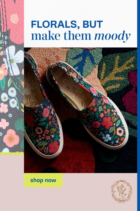 Keds, Floral Sneakers, Floral Shoes, Rifle Paper, Baskets, Fall Collections, Mom Style, Color Palettes, Florals