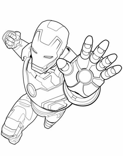 Avengers Colouring Pages