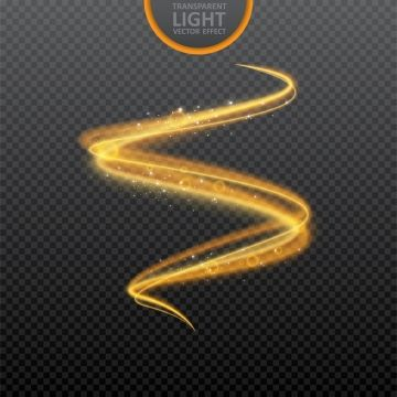 Golden Light Effect On Transparent Background With Realistic Sparkles Magic Light Glowing Swirl Light Effect Vector Illustration Golden Glow Effect Png An Light Magic Lens Flare Effect Vector Illustration