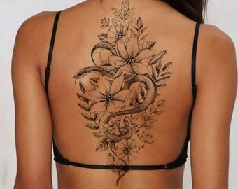 Girl Spine Tattoos, Back Tattoo Women Spine, Simple Girl Tattoos, Stomach Tattoos Women, Thigh Tattoo Men, Girl Thigh Tattoos, Shoulder Tattoos For Women, Feminine Tattoos, Sleeve Tattoos For Women