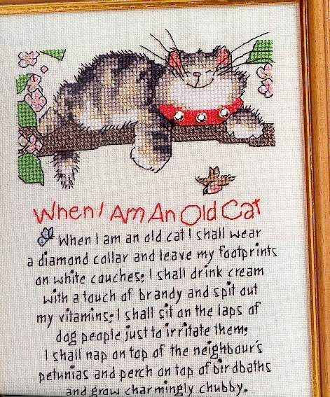 """Cat Counted Cross Stitch Kits 14CT Easy Pattern Embroidery Needlework 7x8.2/"""""""