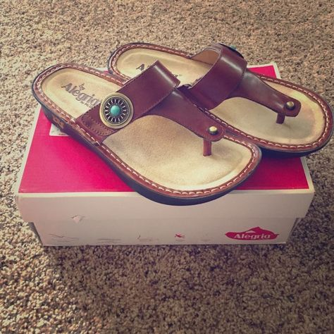 Alegria Sandals Brand new! Never worn! Paid $99 for these but did not fit. These shoes are super comfy! Alegria Shoes Sandals
