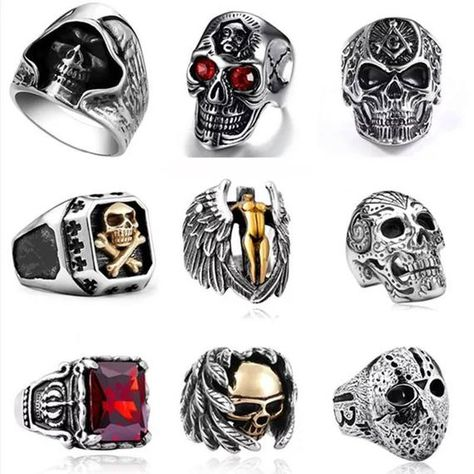ssteelblood  #bikerrings #skull  #skullring #statemantring #man #birthday #birthdaygift #birthdayide