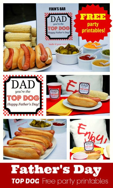 20 Fun Fathers Day Ideas & Freebies - #day #fathers #Freebies #Fun #ideas -  Father's Day Top Dog Free Printables from the Party BluPrints Blog