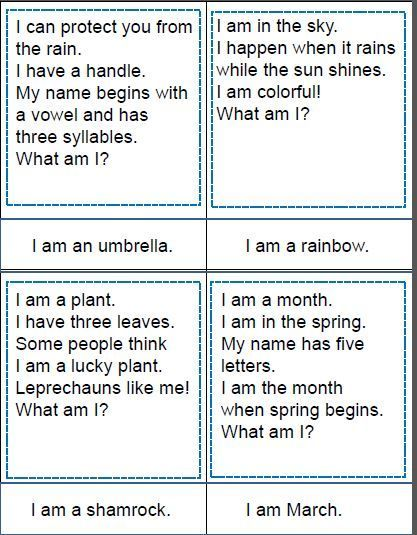 Spring Vocabulary Riddles | Dementia | Riddles, Riddles with answers