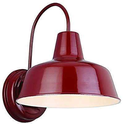 Design House 520559 Mason 1 Light Indoor Outdoor Wall Light Rustic Red Amazon Com With Images Outdoor Barn Lighting Outdoor Wall Lighting Barn Lighting