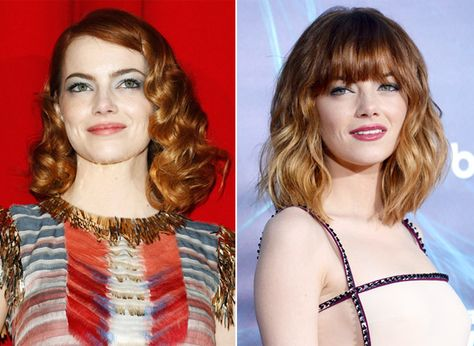 Emma Stone stepped out at the New York City premiere of The Amazing Spider-Man 2 with brow-skimming bangs and ombre highlights.