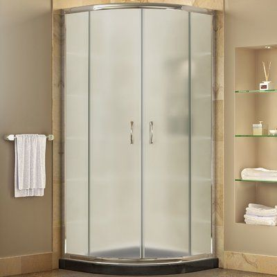 Dreamline Prime Frameless Curved Sliding Shower Enclosure Glass Type
