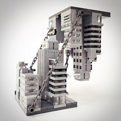 My take on Lego Tensegrity Sculpture Lego Minecraft, Lego Lego, Minecraft Buildings, Lego Bots, Lego Creative, Micro Lego, Brick Art, Lego Craft, Lego Games