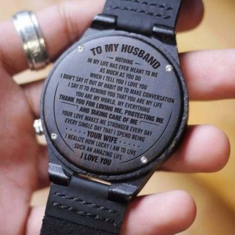 ★ Description: ★  Engraved wooden watch for men and women, anniversary gift for boyfriend and my man, my son, my wife , my husband, my love, or a gift for groomsmen, etc. This personalized wood watch would even make an amazing birthday gift for him. #giftforhusband #engravedwoodenwatch #personalizedengravedwatch #woodenwatch  #bestgift #perfectgift  #memorablegift #personalizedgift#Birthdaygift #graduationgift #anniversarygift #watchformen #watchforwomen #idealgift #giftforanyoccasion