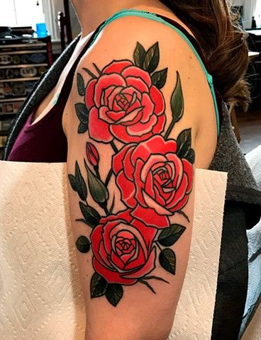 rose tattoo by tattoo artist dave wah at stay humble tattoo company ...
