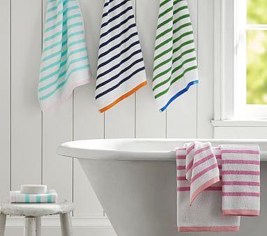 Best Bath Bath Towels Images On Pinterest Bath Towels - Striped bath towels for small bathroom ideas