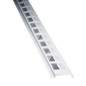 Air Vent 8 Ft Louvered Aluminum New Construction Continuous Soffit Vent In White Sold In 50 Pieces Carton Only Sv202wh In 2020 Attic Ventilation Exhaust Vent New Construction