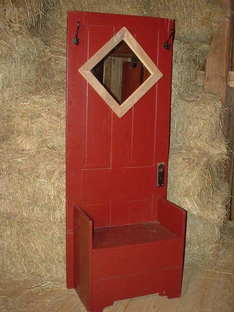 farmhouse door and bench hall tree, $275