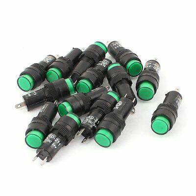 Dc 24v 2 Terminal Green Led Alarm Pilot Panel Signal Indicator Light Lamp 14pcs In 2020 Lamp Light Indicator Lights Green Led