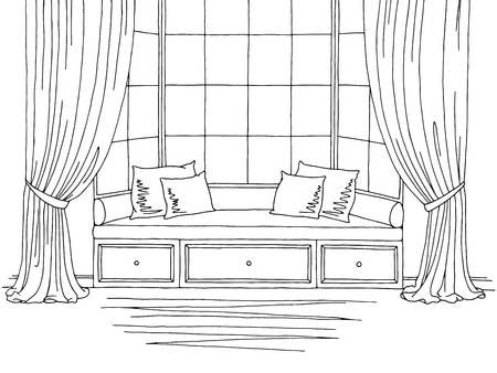 Stock Vector In 2020 Interior Sketch Interior Design Sketches