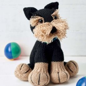 Freddie The Deradog Schnauzer Knitting Patterns Free Dog Animal