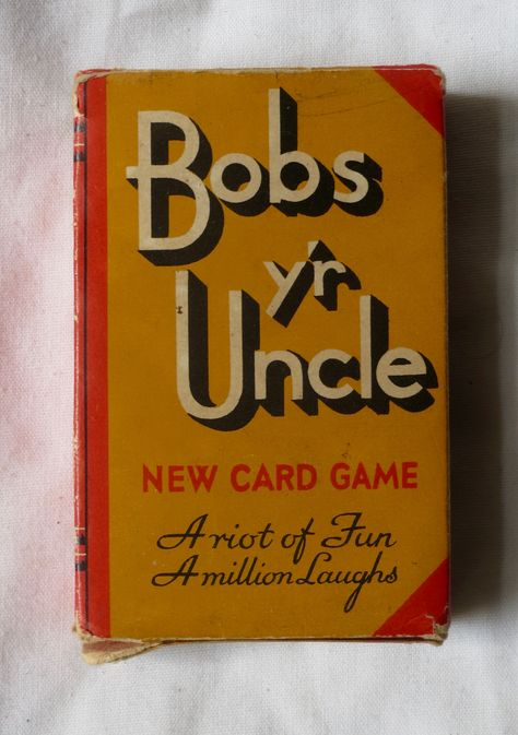 Bobs Yr Uncle Card Game By Waddington 1935 Vees Cave Card Games Vintage Playing Cards Cards