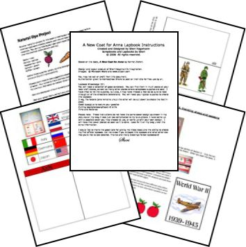 A New Coat for Anna Lapbook Printables FREE Unit Study Lessons