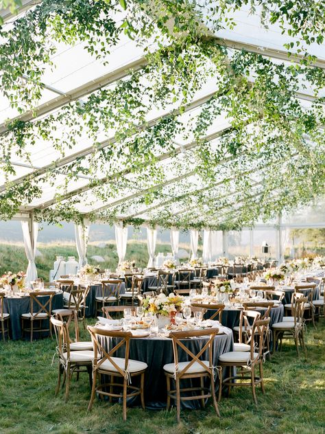Stunning fall wedding in Aspen, Colorado. Garland draped, clear top tent on a pr. - Stunning fall wedding in Aspen, Colorado. Garland draped, clear top tent on a private estate. Fall Mountain Wedding, Mountain Weddings, Clear Tent, Aspen Colorado, Colorado Wedding Venues, Summer Wedding Venues, California Wedding Venues, Unique Wedding Venues, Wedding Reception Venues