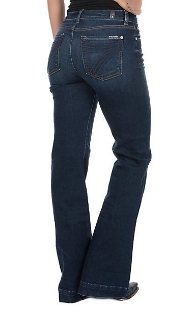 7 For All Mankind Women S Moreno Dojo Original Trouser Jeans