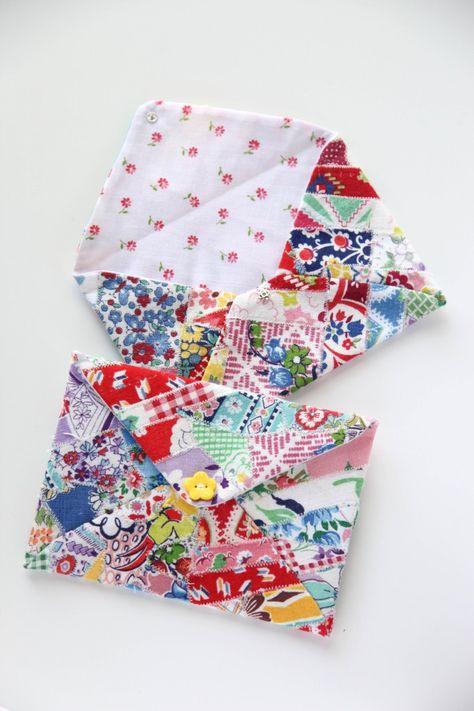 DIY Fabric envelop | Minki's Work Table - Resteverwertung auf scharmante Art