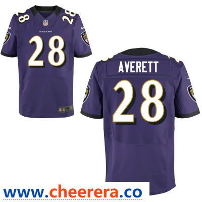 size 40 1cf62 b582b Men's Baltimore Ravens #28 Anthony Averett Purple Team Color ...