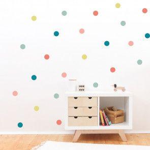 Wandtattoo Konfetti Wandgestaltung Im Kinderzimmer Pastell In 2020 Babyzimmer Wandgestaltung Kinderzimmer Und Kinder Zimmer