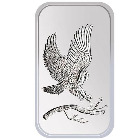 1 oz SilverTowne Eagle Silver Bar New
