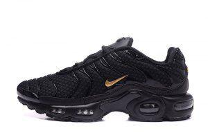 Mens Nike Air Max Plus Txt Black Gold Running Shoes Nike Air Max Plus Black Nike Shoes Black And Gold Sneakers