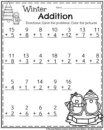 1st Grade Addition Worksheets In 2020 1st Grade Worksheets Addition Worksheets First Grade Worksheets