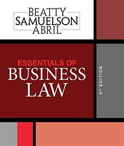 Pdf Download Essentials Of Business Law Ebook Pdf Download