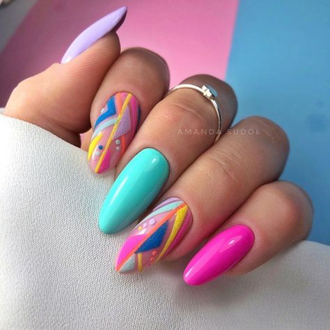 Cute Acrylic Nails, Acrylic Nail Designs, Hot Nails, Pink Nails, Fancy Nails, Pretty Nails, Crome Nails, Nailart, Dream Nails