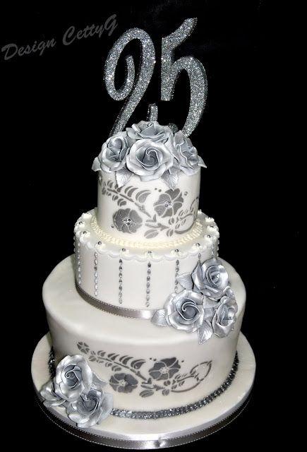 Le torte decorate di CettyG...: 25° Anniversario di matrimonio...
