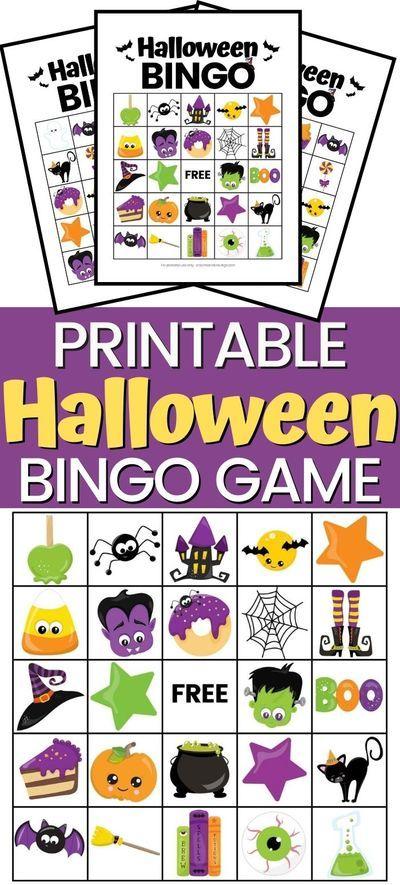 Free Halloween Games, Halloween Bingo Cards, Classroom Halloween Party, Halloween Activities For Kids, Halloween Kids, Halloween Printable, Halloween Stuff, Halloween Crafts, Free Printable Bingo Cards