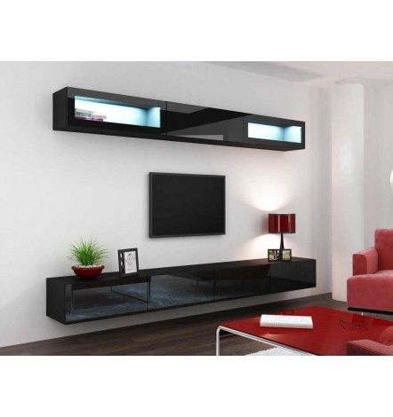 meuble tv vigo trend 280 noir soldes dhiver 2016 pinterest - Meuble Tv Living