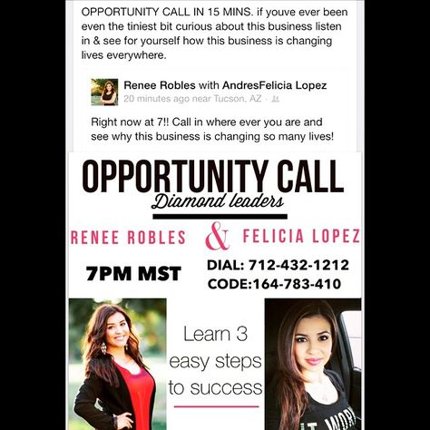 OPPORTUNITY CALL 7 pm MST #business #opportunity #call #residualincome #stayathomemoms #stayathome #moms #tucson #arizona #phoenix #mesa #chandler #entrepreneur #femaleentrepreneur #callin