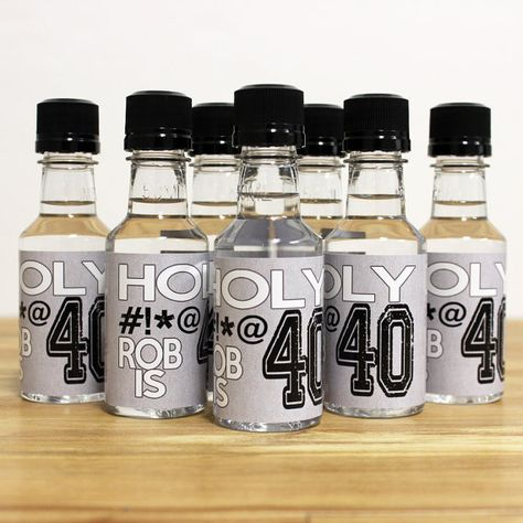 Custom Mini Bottle Birthday Favors Personalized Liquor Labels And Empty 50 ML Bottles 30 40