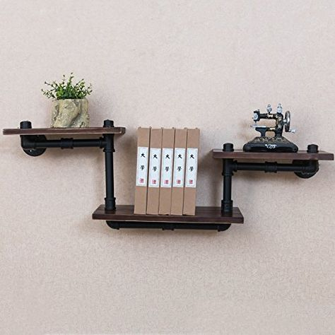 Iron And Wood Wall Shelves Wooden Wall Shelves Wall Shelves Design