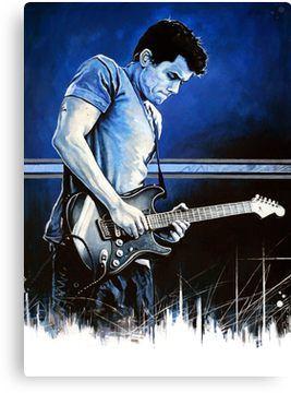 John Mayer Blues Canvas Print Wall Art Canvas Prints Vinyl Painted Blue Art