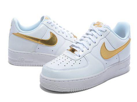 Nike Air Force 1 low WhiteGold | NIKE Sneakrs en 2019 | Zapatos
