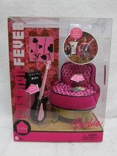 2007 Barbie Doll My Dream House Purple Modern Floor Lamp Glam Office Furniture