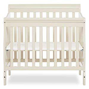 Dream On Me Aden Convertible 4 In 1 Mini Crib French White In 2020 Mini Crib Cribs Crib Mattress Pad