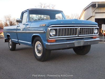 1970 Ford F 250 Ranger 2wd Long Bed Pickup Truck Old 1970 S