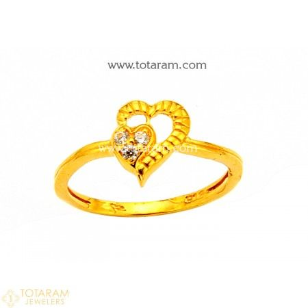 11c48c897 22K Gold Ring For Women with Cz - 235-GR4264 - Buy this Latest Indian Gold  Jewelry Design in 2.500 Grams for a low price of $172.50